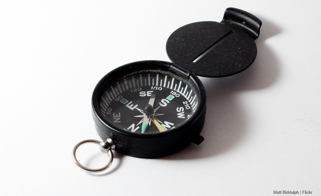 Held Compass Use of a Hand-held Compass