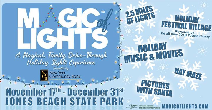 once again jones beach will shine bright as guests weave through the spectacular 25 mile drive through holiday lights display which opens friday